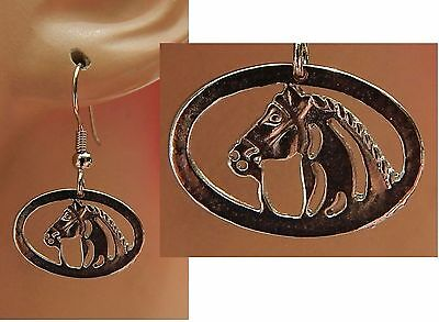 Horse Earrings Charm Drop/Dangle Silver Handmade Jewelry Hook NEW Fashion