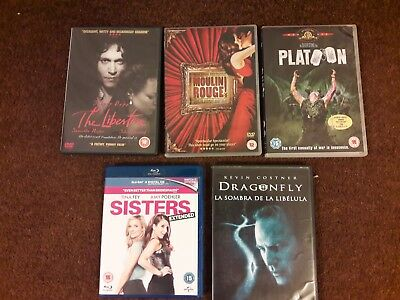 5 DVD Joblot Bundle for wholesale boot fair or watching.