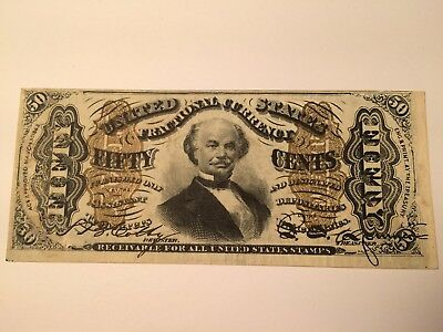 FR 1339 Francis Spinner 50 cent Fractional Currency note UNC