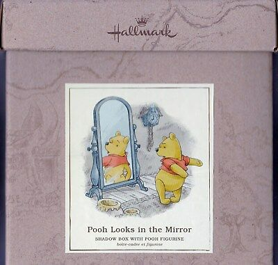 Winnie the Pooh Looks in the Mirror Shadow Box Hundred Acre Wood Series Hallmark