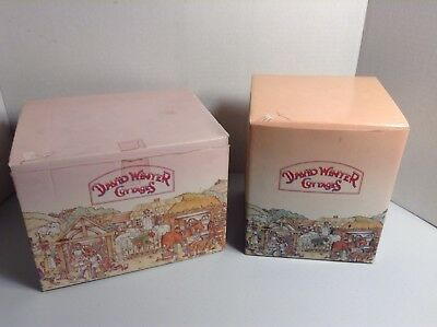 2 Beautiful David Winter Cottages The Chapel & Devon Combe In Boxes