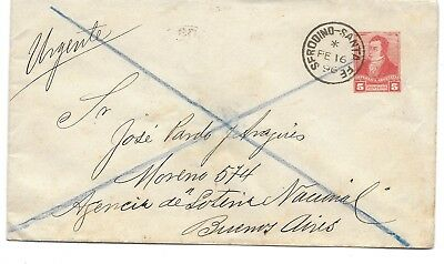 Argentina Postal History Stationery Exprescover  Addr Buenos Aires Canc Yr'1896