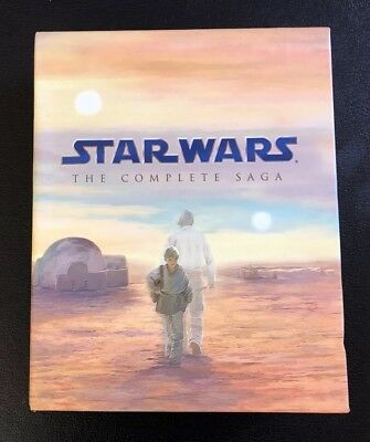 Star Wars The Complete Saga Bluray Blu-Ray Collection Trilogy 9 Disc Box Set Oop