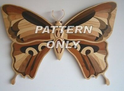 NEW   Intarsia wood pattern:BUTTERFLY
