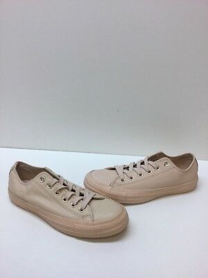84ecd45dae75 Converse All Star Beige Leather Lace Up Low Top Shoes Men s Size 5 Women s 7