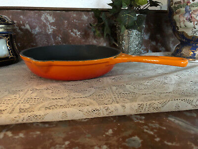 "Vintage Le Creuset Enameled Cast Iron Double Spout 7.5"" #20 Made in France Flame"