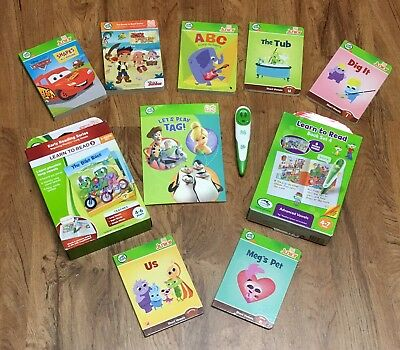 Leap Frog Tag Reader Pen And Book Huge lot Box Sets, Board, Junior, Great Deal!