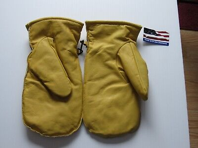 Deerskin mittens, never worn new with tags