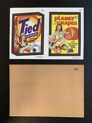 2018 Lost Wacky Packages VARIATIONS Double 3rd, 4th Bonus TAN BACK #3/3