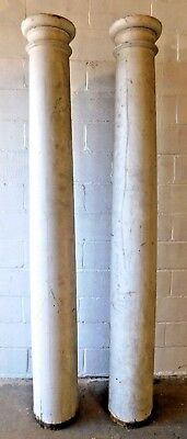 Set 1880's Wooden Antique PORCH COLUMNS Tapered With Cap VICTORIAN Style ORNATE