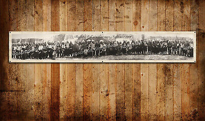 "Buffalo Bill & American Indians Vintage Style Panoramic Photo Banner 72""x12"""