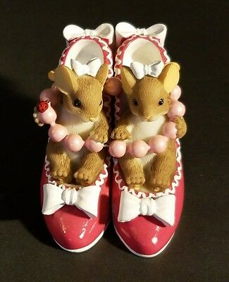 """Charming Tails giguri""""Sole Sisters"""" Fitz & Floyd Mice 89/373 EXCELLENT CONDITION"""