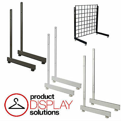 Box of 2 | Grid Gridwall L Shaped Legs Bases Grid Stands | BLACK,WHITE or CHROME