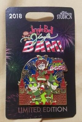 2018 Pin Jingle Bell Jingle BAM! Disney's Hollywood Studios Prep Landing LE 2500