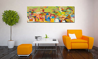 "Abstract Paints 16X16"" X3PCS Home Wall Decor Art Oil Painting on Canvas NO FRAME"