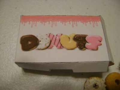 Barbie Dollhouse Food Dozen Donuts Assorted Handcrafted with box NEW