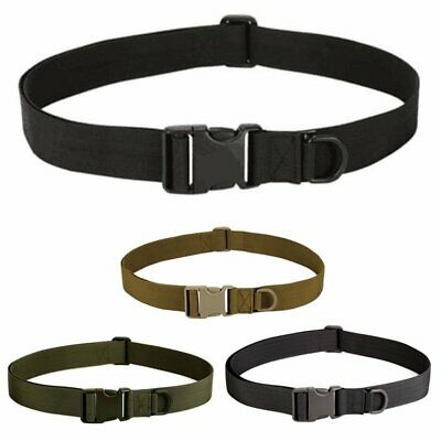 Buckle Military Trouser Belt Army Tactical Nylon Webbing Outdoor Camping WT
