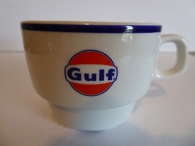 GULF OIL china coffee cup from SHIP continental PRISTINE 1970s