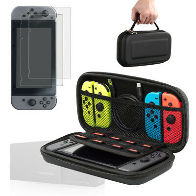 Fit Nintendo Switch Case and Tempered Glass Screen Protector for Nintendo Switch