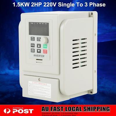 1.5KW 2HP 220V Single To 3 Phase Variable Frequency Drive Inverter VFD VSD AU