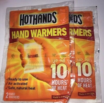 Hot Hands Hand Warmers up to 10 Hours Safe Max Heat Warmers 2-Packs of 2 Hand