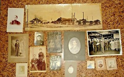 Lot of 145 Assorted Vintage  Antique Photographs