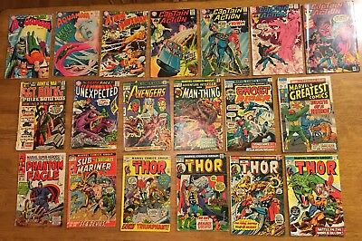 DC/MARVEL 19 BK LOT Aquaman,Atom,Captain Action,Avengers,Fear,Sub-Mariner,Thor+1