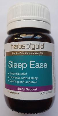 Brand New Herbs Of Gold Sleep Ease 10 Capsules Calming Insomnia Relief