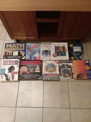 Wholesale Lot Of 10 Older PC Games