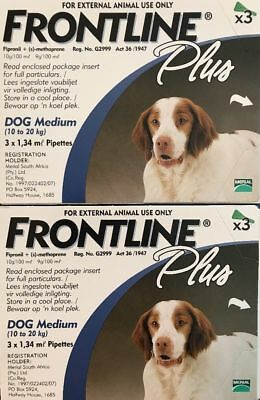 Frontline Plus for Medium Dogs 23-44 Lbs (10-20kg) 6 Month Supply By Merial 1