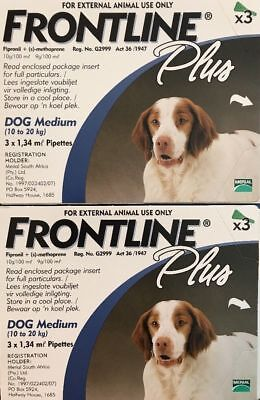 Frontline Plus for Medium Dogs 23-44 Lbs (10-20kg) 6 Month Supply By Merial 8