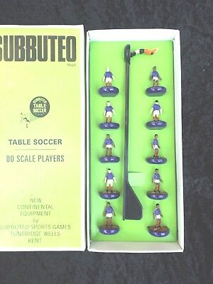 SUBBUTEO soccer team BLUE WITH 2 CLARET STRIPES barcelona boxed