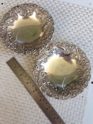Pair Of Sterling Dishes 925