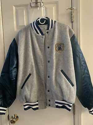 NJSP New Jersey State Police Trooper Cop Artex Blue & Gray Snap Jacket - Size XL