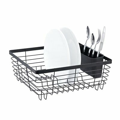 Dish Drainer Drying Rack Stylish Sturdy Steel Oil Rubbed Bronze Metal Wire 12x14
