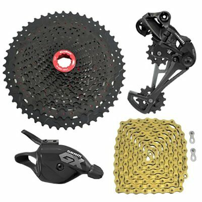 SRAM GX Eagle 12 Spd Groupset YBN Chain Gold & SunRace Cassette,Trigger Shifter