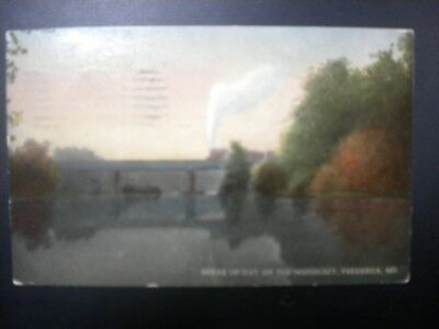 Db Postcard View Of Break Of Day On The Monocacy, Frederick, Md, 1913