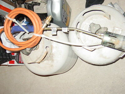 propane tank and torch
