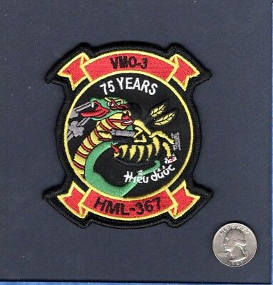 HMLA-367 SCARFACE 75 Years VMO-3 HML-367 USMC Helicopter Squadron Patch