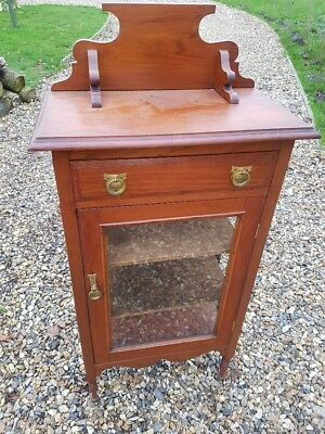 Edwardian Mahogany Corner Display Cabinet in Excellent Condition