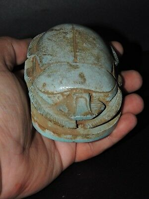 ANCIENT EGYPTIAN ANTIQUES Egypt Scarab Beetle Scarabs Rare EGYPT Stone  BC