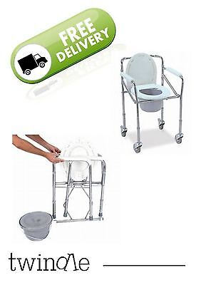 Commode Toilet Chair - with wheels