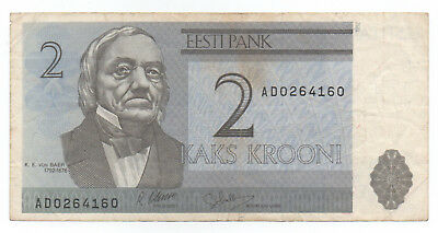 ESTONIA ₭ 2 Krooni 1992 Circulated F cond