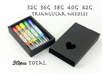 Gift Box 30pcs Triangular Felting Needles Set - 32G, 36G, 38G, 40G, 42G
