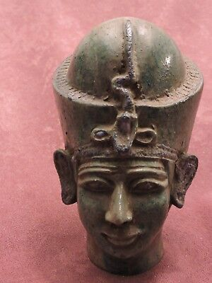 Rare Ancient Egyptian Antique Large Statue Of God Amenhotep III LIME STONE Egypt