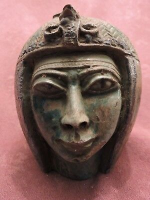 Rare Ancient Egyptian Antique Large Statue Of Tuya (queen) LIME STONE Egypt BC