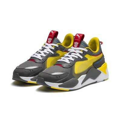 New Puma Rs-X & Transformers 370701 Bumblebee Cyber Yellow Gray White Size 9 Ds