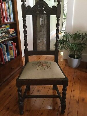 Antique Old High Backed Hall Chair Vintage (BEST OFFER)