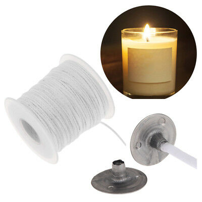 100pcs/lot Candle Sustainer DIY Candle Making Supplies or 61m Cotton Wicks Cord