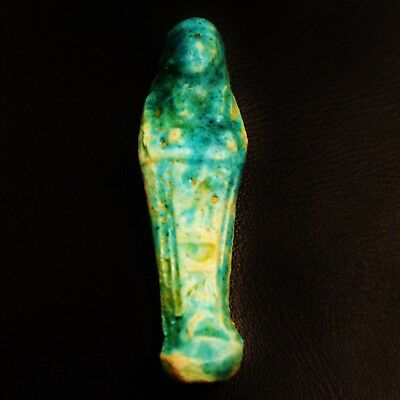 Funerary Ancient Egyptian Faience Ushabti-Shabti-Statue Figure, Circa 600-300 BC